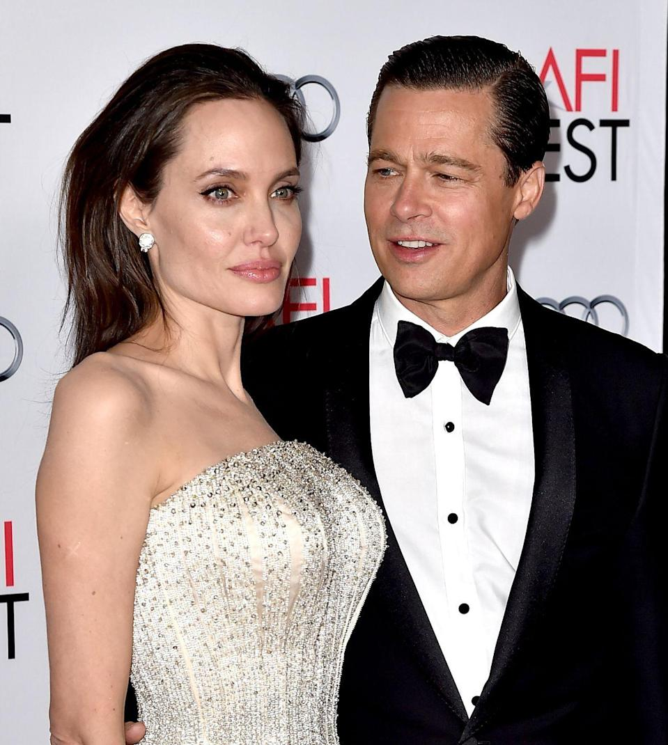 """<p>Angelina and Brad Pitt famously hit it off on set of Mr. and Mrs. Smith. Brad was still married to Jennifer Aniston, but that didn't hinder the connection he felt with his future wife. 'Because of the film, we ended up being brought together to do all these crazy things, and I think we found this strange friendship and partnership that kind of just suddenly happened,' <a href=""""https://people.com/celebrity/angelina-jolie-how-brad-pitt-i-fell-in-love/"""" rel=""""nofollow noopener"""" target=""""_blank"""" data-ylk=""""slk:Brad told People in 2006"""" class=""""link rapid-noclick-resp"""">Brad told People in 2006</a>. 'Anything we had to do with each other, we just found a lot of joy in it together and a lot of real teamwork. We just became kind of a pair.'</p><p>Brangelina became the Hollywood It relationship. Nearly 10 years after they went public, they <a href=""""https://www.vogue.com.au/brides/news/its-official-brad-pitt-and-angelina-jolie-are-married/news-story/1741acfd018d9ac5c5e2cc1e29f0545e"""" rel=""""nofollow noopener"""" target=""""_blank"""" data-ylk=""""slk:got married in France"""" class=""""link rapid-noclick-resp"""">got married in France</a> but <a href=""""https://www.popsugar.com/celebrity/Brad-Pitt-Angelina-Jolie-Divorce-Details-42436493"""" rel=""""nofollow noopener"""" target=""""_blank"""" data-ylk=""""slk:filed for divorce two years later"""" class=""""link rapid-noclick-resp"""">filed for divorce two years later</a>.</p>"""