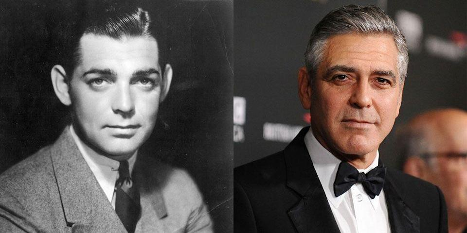 <p>It's his soft eyes that make the devilishly handsome George Clooney a dead ringer for legendary actor Clark Gable. </p>