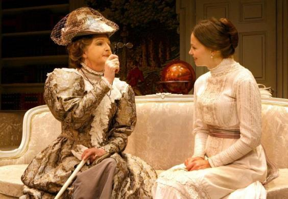 Penelope Keith and Rebecca Knight in 'The Importance of Being Earnest' at the Vaudeville Theatre, 2009 (Anthony Devlin/PA)