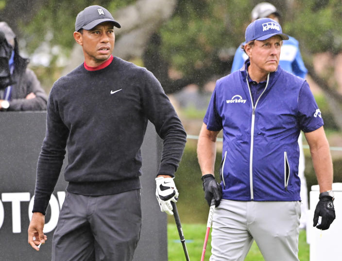 Tiger Woods and PHil Mickelson at the 2020 ZOZO Championship