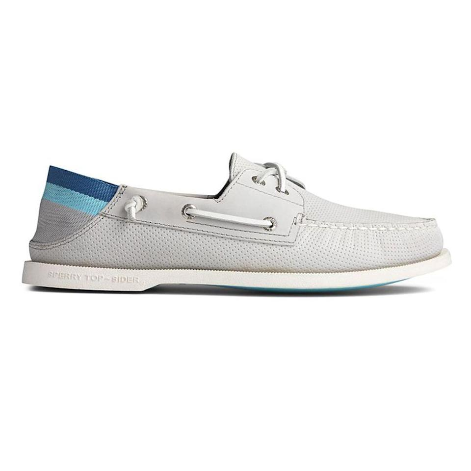 """<p><strong>sperry top sider</strong></p><p>sperry.com</p><p><strong>$374.95</strong></p><p><a href=""""https://go.redirectingat.com?id=74968X1596630&url=https%3A%2F%2Fwww.sperry.com%2Fen%2Fauthentic-original-kick-down-boat-shoe%2F45162M.html%3Fdwvar_45162M_color%3DSTS21940%23cgid%3Dmen-shoes-view-all%26start%3D1&sref=https%3A%2F%2Fwww.menshealth.com%2Fstyle%2Fg21753744%2Fbeach-essentials%2F"""" rel=""""nofollow noopener"""" target=""""_blank"""" data-ylk=""""slk:BUY IT HERE"""" class=""""link rapid-noclick-resp"""">BUY IT HERE</a></p><p>These boat shoes made with a kick-down backs are lightweight, water-resistant, and easy for carrying in your beach bag when the occasion arrives to head-off the sand or onto a boat. </p>"""