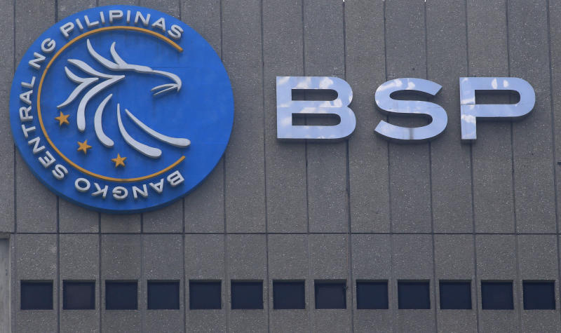 File Photo: A logo of Bangko Sentral ng Pilipinas (Central Bank of the Philippines) is seen at their main building in Manila, Philippines March 23, 2016. REUTERS/Romeo Ranoco