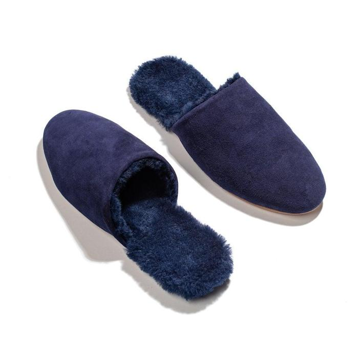 """<h3><a href=""""https://tkees.com/products/ines-shearling?variant=30249679224905"""" rel=""""nofollow noopener"""" target=""""_blank"""" data-ylk=""""slk:Tkees Ines Shearling Slipper"""" class=""""link rapid-noclick-resp"""">Tkees Ines Shearling Slipper</a></h3><br>To really earn points in the in-law arena, for the ultimate treat on her feet. These ultra-luxe slippers can be worn inside or outside — ideal for life on lockdown. <br><br><strong>TKEES</strong> Ines Shearling Slipper, $, available at <a href=""""https://go.skimresources.com/?id=30283X879131&url=https%3A%2F%2Ftkees.com%2Fproducts%2Fines-shearling%3Fvariant%3D30249679224905"""" rel=""""nofollow noopener"""" target=""""_blank"""" data-ylk=""""slk:Tkees"""" class=""""link rapid-noclick-resp"""">Tkees</a>"""