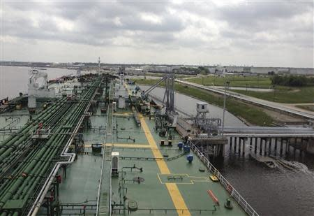 The Aframax tanker 'The Everglades' makes a call at the Sunoco Logistics terminal in Nederland, Texas