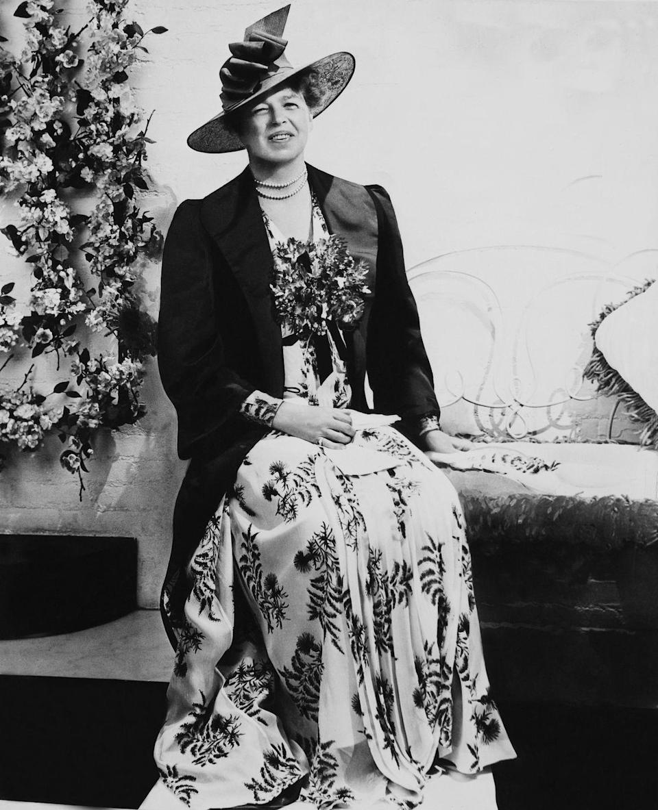 "<p>Large hats were the staple of Eleanor Roosevelt's <a href=""https://americanhistory.si.edu/firstladies-interactive/the-fashionable-first-lady-text.html"" rel=""nofollow noopener"" target=""_blank"" data-ylk=""slk:style"" class=""link rapid-noclick-resp"">style</a>. They were often worn with long skirts or dresses that kept up with the conservative aesthetic she wanted to accomplish.</p>"