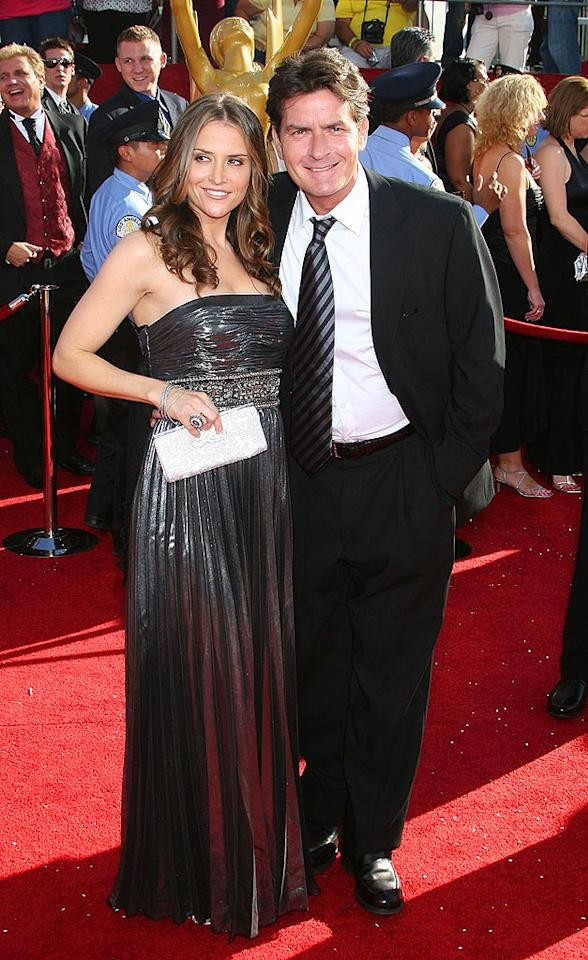 """Charlie Sheen wed Brooke Mueller, wife no. 3, on May 30, 2008. Charlie divorced Denise Richards in 2006, but they continue to feud very bitterly in public. Carlos Diaz/<a href=""""http://www.infdaily.com"""" target=""""new"""">INFDaily.com</a> - September 21, 2008"""