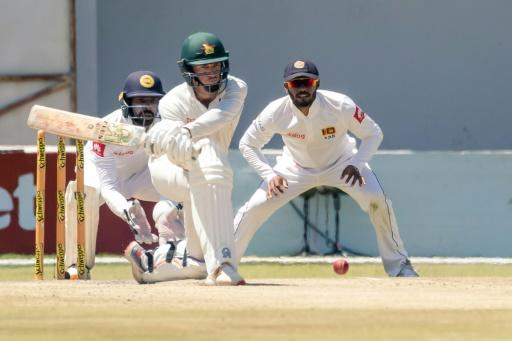 Zimbabwe captain Sean Williams reverse sweeps as Zimbabwe counterattacked after losing three quick wickets