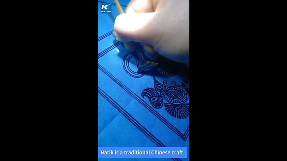 Indonesian batik was declared an intangible cultural heritage by Unesco in 2009. — Screengrab from Twitter/China Xinhua News