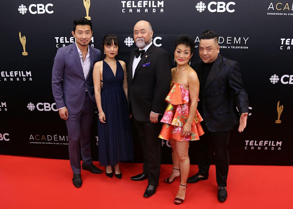 TORONTO, ON - MARCH 31:  Simu Liu Andrea Bang Paul Sun-Hyung  Lee Jean Yoon and Andrew Phung attend the 2019 Canadian Screen Awards Broadcast Gala at Sony Centre for the Performing Arts on March 31, 2019 in Toronto, Canada.  (Photo by Isaiah Trickey/FilmMagic)