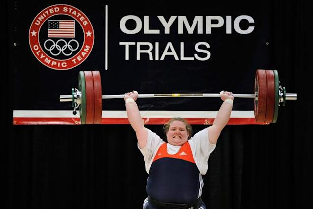COLUMBUS, OH - MARCH 4: Holley Mangold successfully completes a 142 kilogram clean and jerk on her first attempt during the 2012 U.S. Olympic Team Trials for Women's Weightlifting on March 4, 2012 in Columbus, Ohio. (Photo by Jamie Sabau/Getty Images)