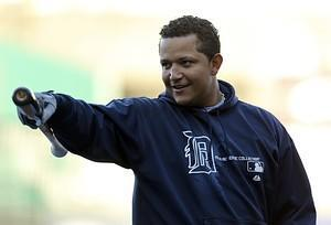 KANSAS CITY, MO - OCTOBER 3: Miguel Cabrera #...