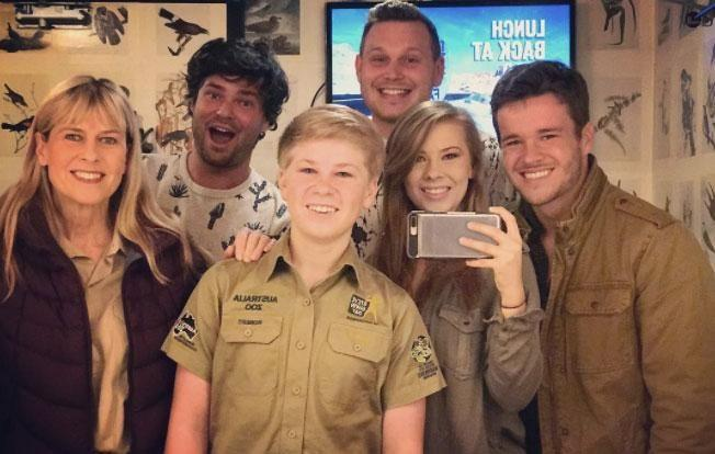 , Mitch also happens to work at the zoo on Queensland's Sunshine Coast, and has been on hand to support the Irwin family during various media engagements. Source: Instagram