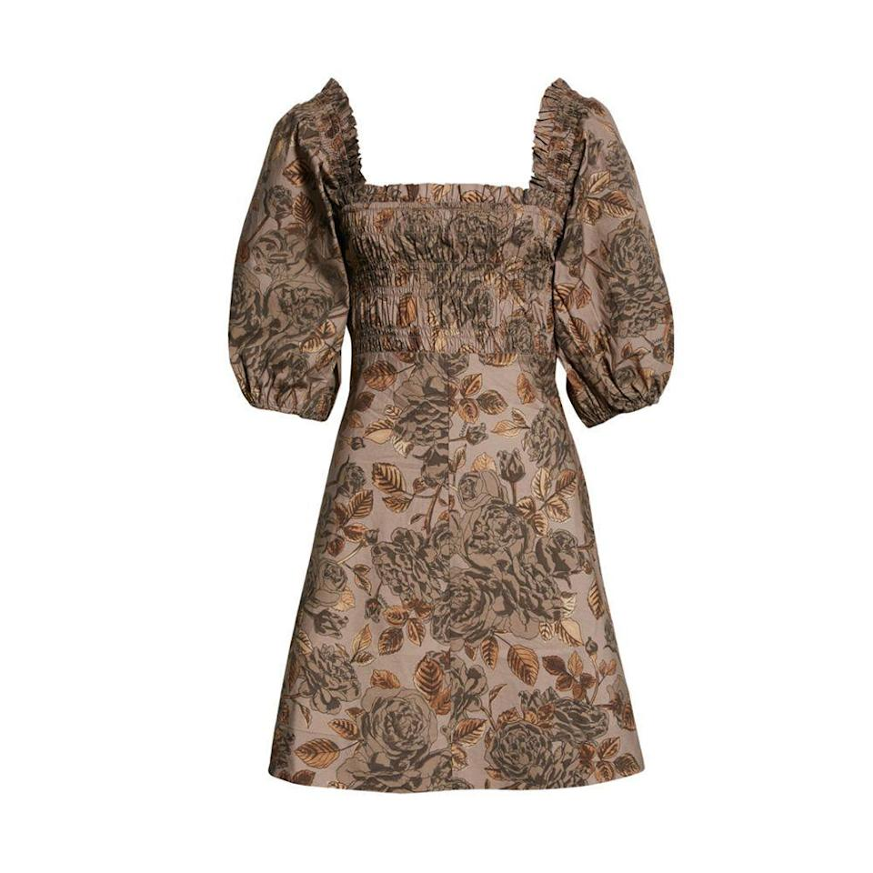 """<p><strong>GANNI</strong></p><p>nordstrom.com</p><p><strong>$199.50</strong></p><p><a href=""""https://go.redirectingat.com?id=74968X1596630&url=https%3A%2F%2Fwww.nordstrom.com%2Fs%2Fganni-floral-puff-sleeve-organic-cotton-poplin-dress%2F5898406&sref=https%3A%2F%2Fwww.elle.com%2Ffashion%2Fshopping%2Fg36462948%2Fnordstrom-half-yearly-sale-2021%2F"""" rel=""""nofollow noopener"""" target=""""_blank"""" data-ylk=""""slk:Shop Now"""" class=""""link rapid-noclick-resp"""">Shop Now</a></p><p><strong><del>$285</del> $200 (30% off)</strong></p>"""