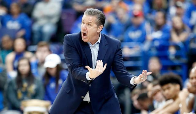 John Calipari and the Kentucky Wildcats often complain about their NCAA tournament draws. But their gripes this year are legitimate. (Getty)