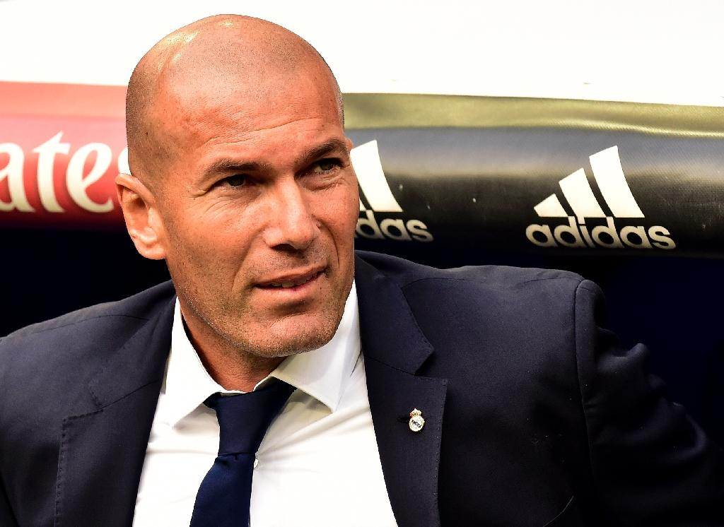 Real Madrid's coach Zinedine Zidane famously scored one of the greatest ever Champions League final goals to win the game against Bayer Leverkusen back in his playing days in 2002 (AFP Photo/GERARD JULIEN)