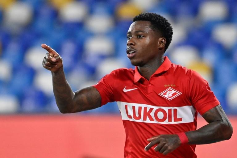 Dutch double: Quincy Promes struck twice for Spartak Moscow against Napoli (AFP/Alberto PIZZOLI)