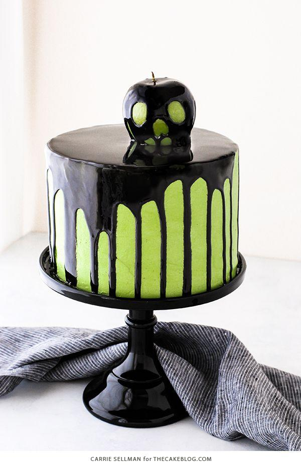 """<p>Playful enough for any party but still elegantly minimalist, this poison apple inspired cake will make sure everyone has a deadly good time.  </p><p><em><a href=""""https://thecakeblog.com/2017/10/poison-apple-cake.html"""" target=""""_blank"""">Get the recipe at The Cake Blog. </a></em></p>"""