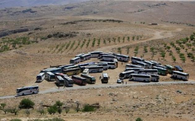 Buses carrying Syrians leave camps in Lebanese border area