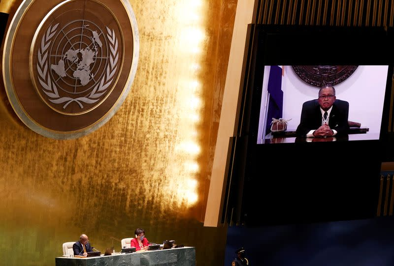 FILE PHOTO: 76th session of the UN General Assembly in New York