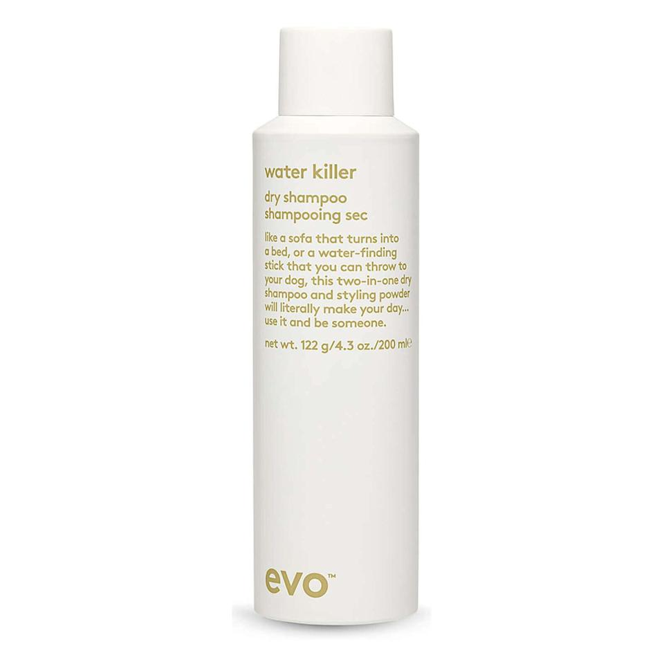 """This Evo Water Killer dry shampoo is made specifically for brunettes and can be used to disguise graying roots. Find it for $22 at <a href=""""https://fave.co/2UH7ABR"""" target=""""_blank"""" rel=""""noopener noreferrer"""">Skinstore</a>."""