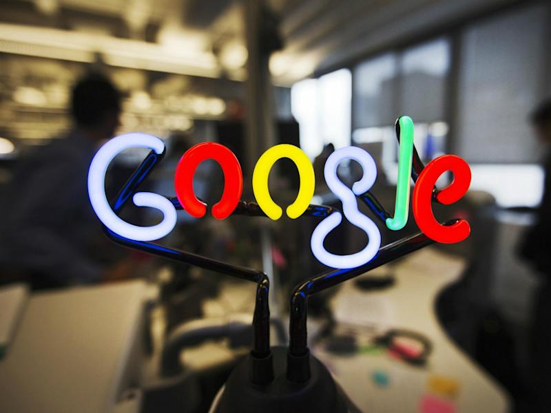 A neon Google logo is seen at the new Google office in Toronto, November 13, 2012: REUTERS/Mark Blinch