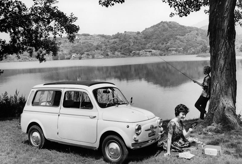 Fiat 500 Giardiniera, c1962. Introduced in 1960, this was an estate version of the 497cc-engined Fiat 500, with a stretched wheelbase and a horizontally mounted engine. (Photo: National Motor Museum / Heritage)