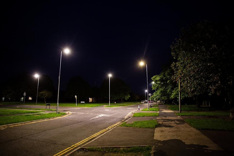 The lights have been installed as Swindon Borough Council replaces 28,000 lights in the area. (SWNS)