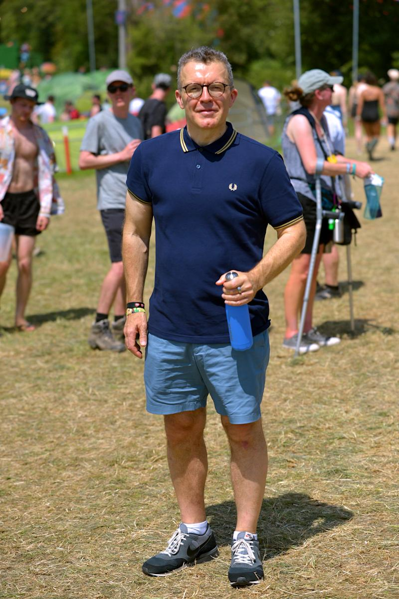 GLASTONBURY, ENGLAND - JUNE 29: Deputy leader of the Labour Party Tom Watson attends day four of Glastonbury Festival at Worthy Farm, Pilton on June 29, 2019 in Glastonbury, England. The festival, founded by farmer Michael Eavis in 1970, is the largest greenfield music and performing arts festival in the world. Tickets for the festival sold out in just 36 minutes as it returns following a fallow year. (Photo by Jim Dyson/Getty Images)