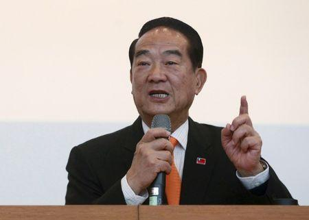 People First Party (PFP) Chairperson and presidential candidate James Soong attends a news conference ahead of the 2016 presidential election in Taipei