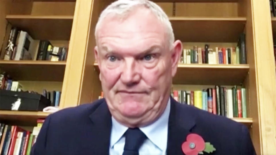 Greg Clarke, pictured here during his car-crash interview.