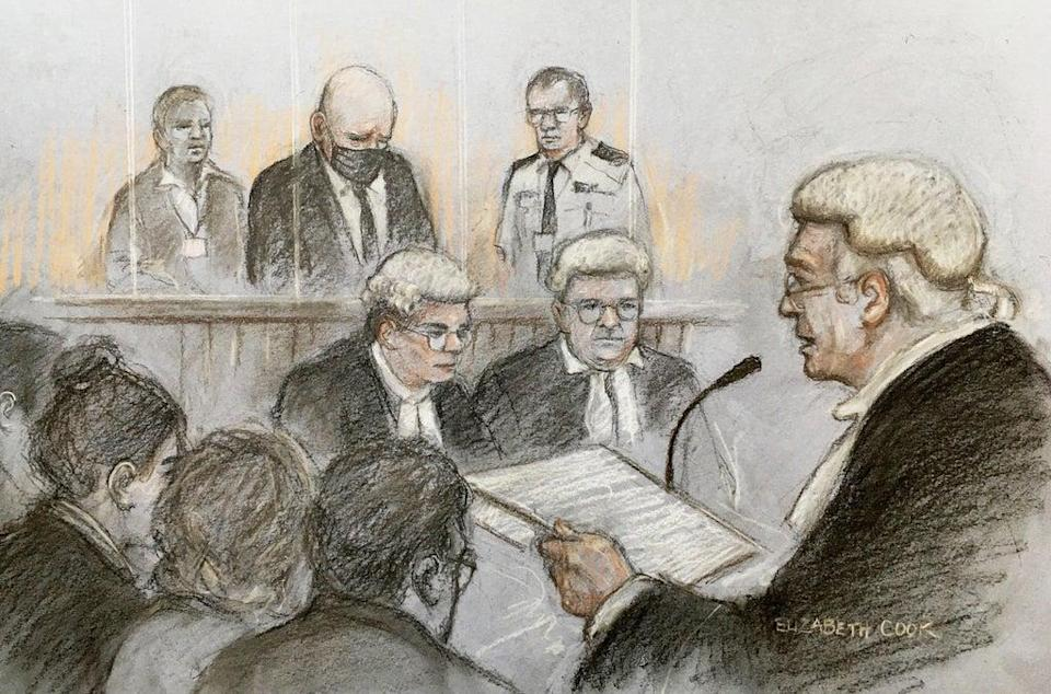 Lord Justice Fulford sentencing former police officer Wayne Couzens (Elizabeth Cook/PA) (PA Wire)