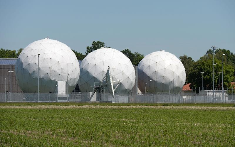 Radomes of the former monitoring base of the US intelligence organization NSA in Bad Aibling, southern Germany (AFP Photo/Christof Stache)
