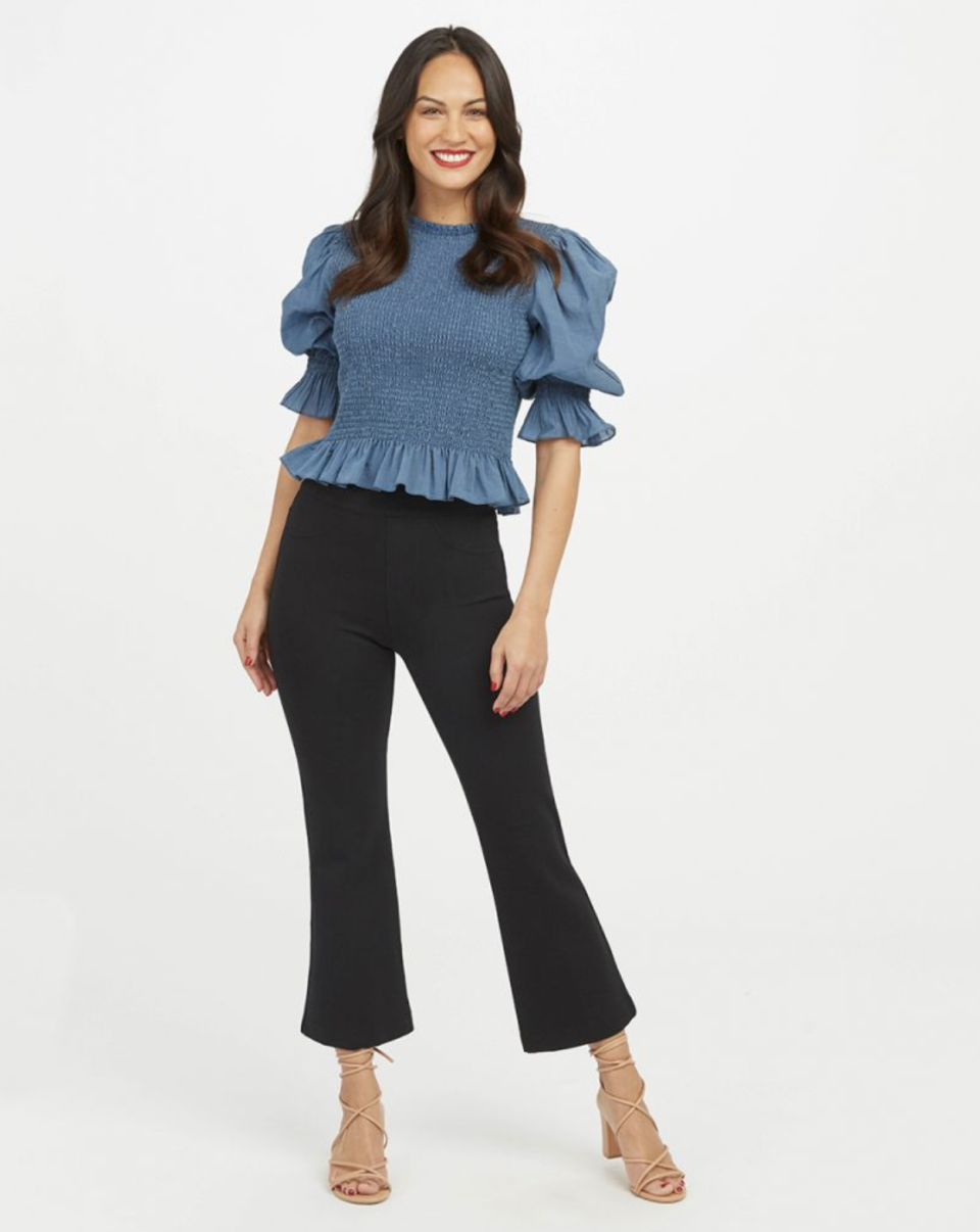 The Perfect Black Pant in Cropped Flare (Photo via Spanx)