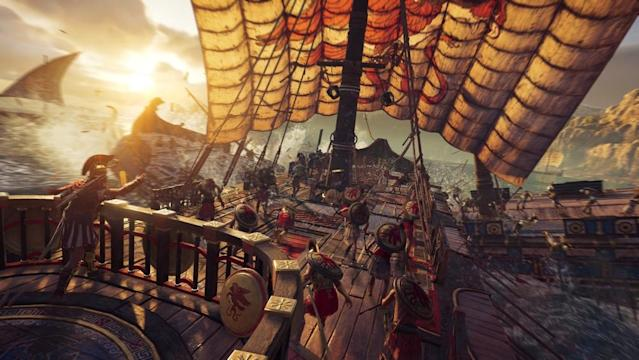 "You'll be able to take to the seas in ""Odyssey"" and wreck your opponents with a little bit of hot fire."
