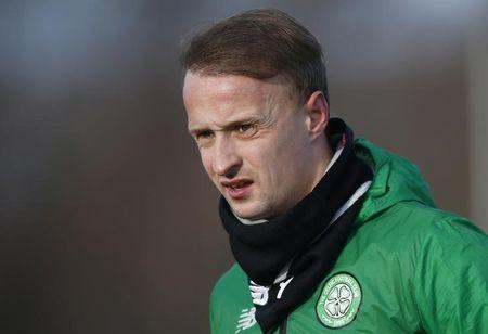Britain Football Soccer - Celtic Training - Celtic Training Ground - 5/12/16 Leigh Griffiths of Celtic during training  Reuters / Russell Cheyne/ Livepic/ Files