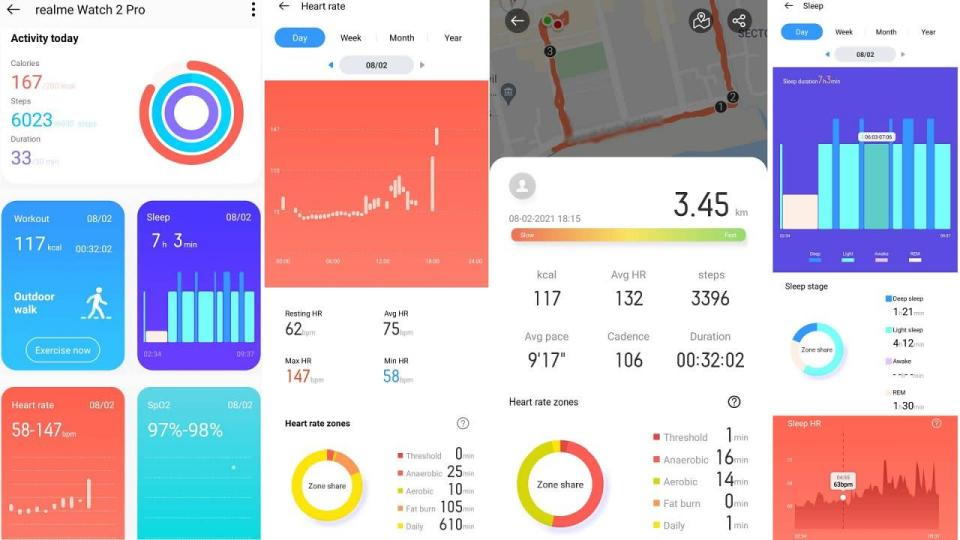 The Realme Watch 2 Pro claims to monitor 90 different fitness activities. Image: Tech2/Ameya Dalvi