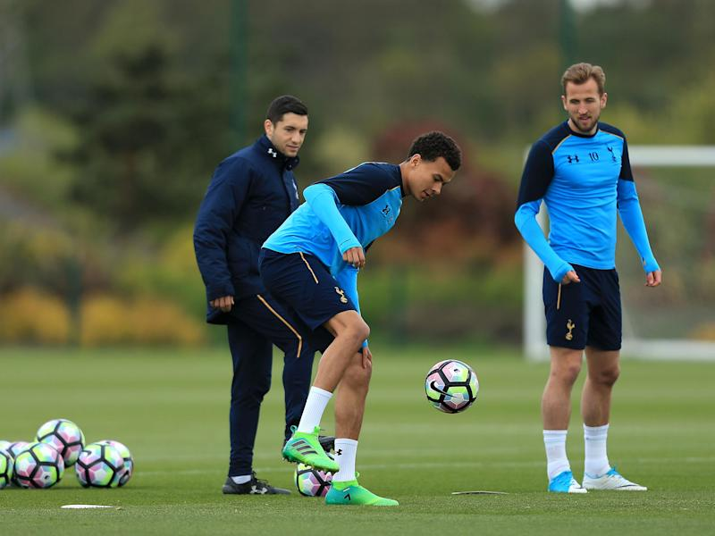 Dele Alli in training ahead of Tottenham's game with Bournemouth at the weekend: Getty