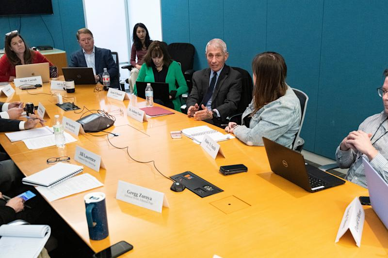 USA TODAY editors and writers ask questions of Anthony Fauci, director of the National Institute of Allergy and Infectious Diseases, on Feb. 17, 2020.