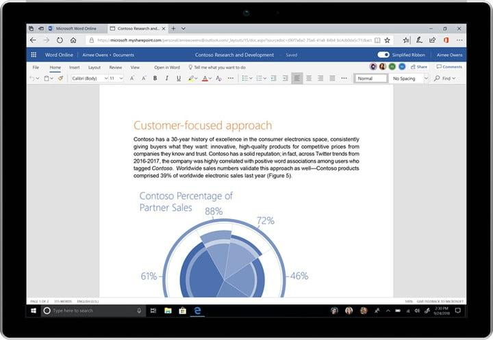 microsoft office redesign comes with new icons and ribbons simplified ribbon on word the web