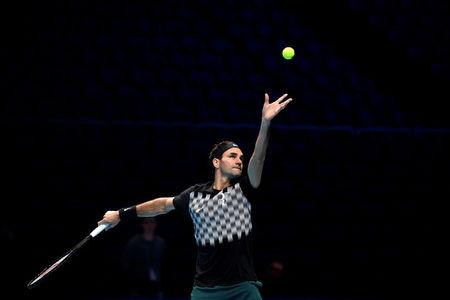 Tennis - ATP World Tour Finals Preview - The O2 Arena, London, Britain - November 10, 2017   Switzerland's Roger Federer during practice   Action Images via Reuters/Tony O'Brien
