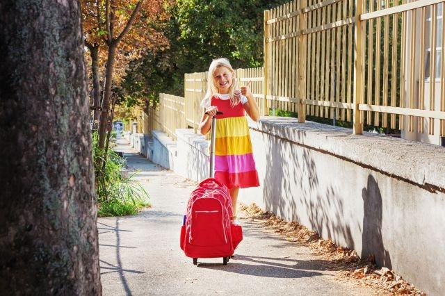 New study reveals how much weight kids should carry in school trolley backpacks