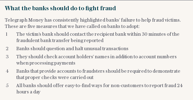 What the banks should do to fight fraud
