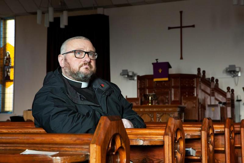 Rev Brian Casey at Springburn parish church.