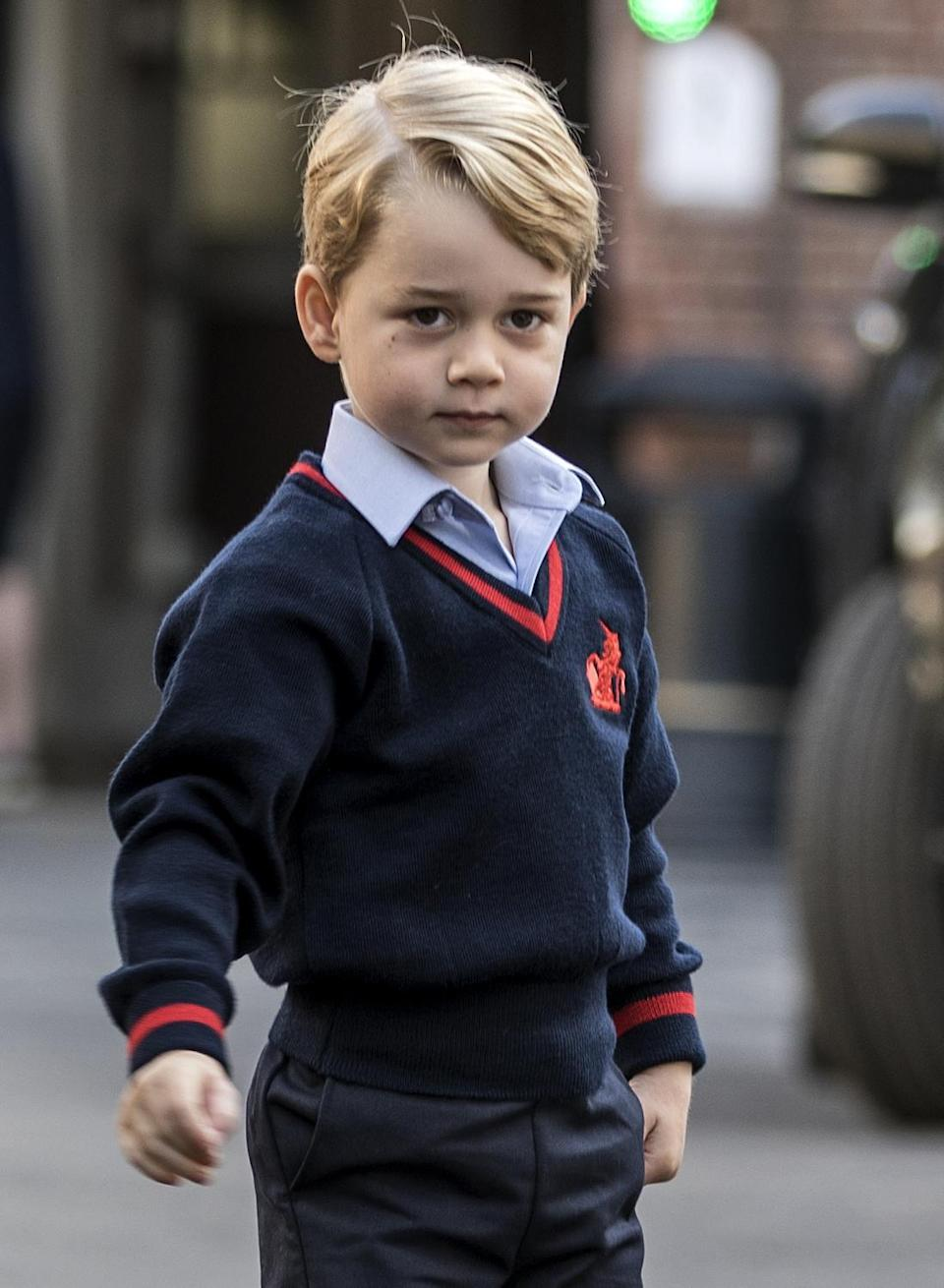 """<p>As an unofficial royal rule, senior members of the royal family have attended boarding schools with peers of the same sex, but rumour has it that Duchess of Cambridge and Prince William might break from royal tradition when it comes to Prince George and allow him to attend a co-ed school instead of single sex: """"The word on the street is that his parents want co-education and boarding when he leaves prep school,"""" a source told The Sunday Times.</p><p>So instead of following in dad William and uncle Harry's footsteps by attending Eton College independent boarding school for boys — George just might break an unofficial royal rule attending a mixed-sex boarding school.</p>"""