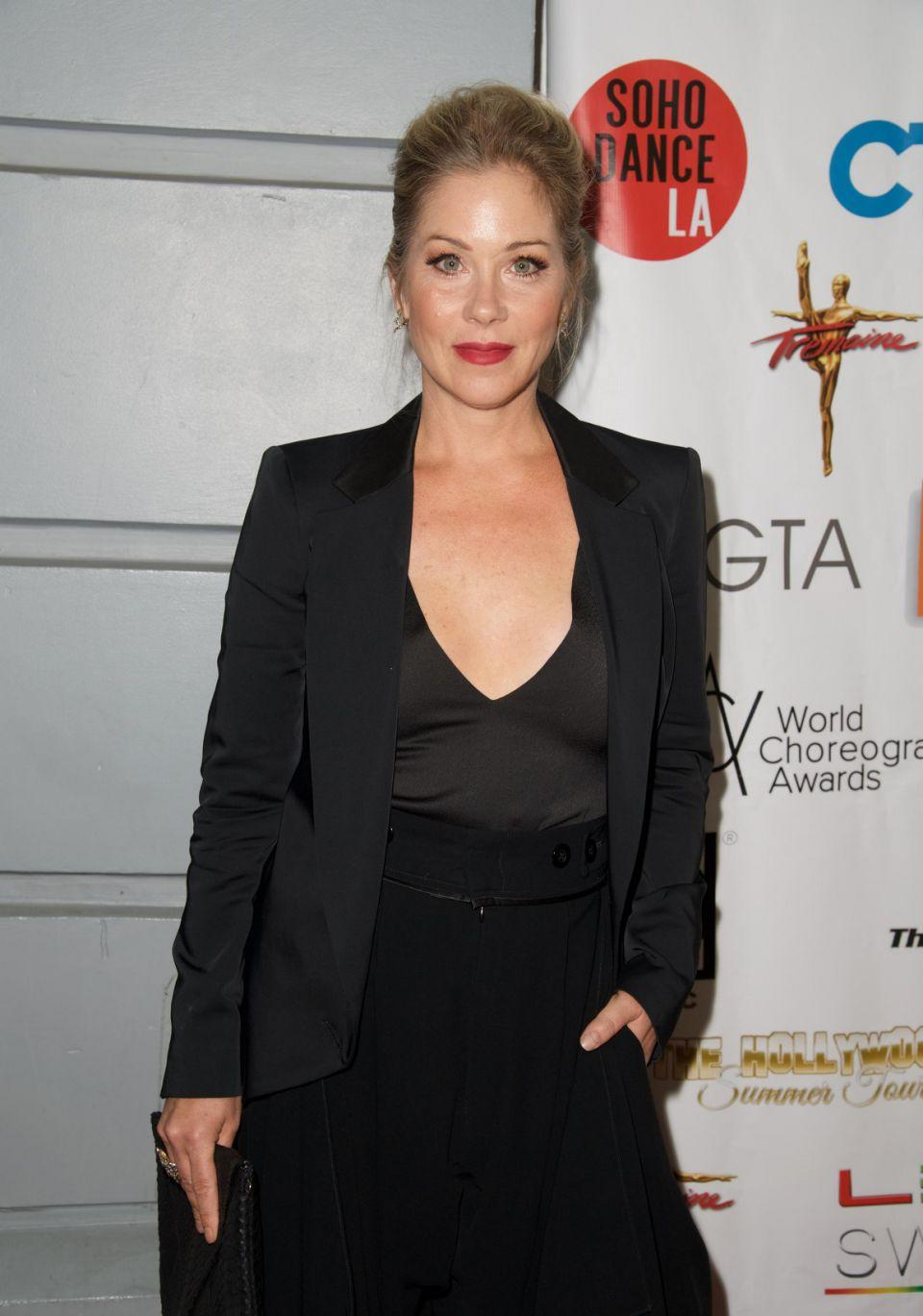 Christina Applegate (here in 2016) has revealed she has undergone surgery to remove her ovaries and fallopian tubes to reduce her risk of cancer. Source: Getty