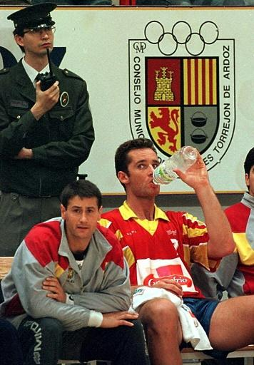 Barcelona handball player Inaki Urdangarin, seen here in 1997, charmed the royal family and the public when he first met the king's youngest daughter in the 1990s