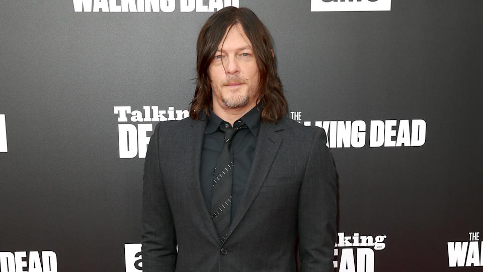 "HOLLYWOOD, CA - OCTOBER 23:  Actor Norman Reedus attends AMC presents ""Talking Dead Live"" for the premiere of ""The Walking Dead"" at Hollywood Forever on October 23, 2016 in Hollywood, California."