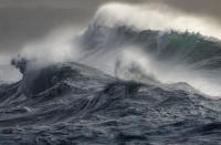 'Wild Seas', by Mark Dobson, at Gwithian, Cornwall, which has won the Coastal Views category of the UK's Ultimate Sea View photography competition (Picture: PA)