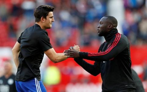 Soccer Football - Premier League - Manchester United v Leicester City - Old Trafford, Manchester, Britain - August 10, 2018 Manchester United's Romelu Lukaku and Leicester City's Harry Maguire before the match Action Images via Reuters/Andrew Boyers - Credit: Action Images