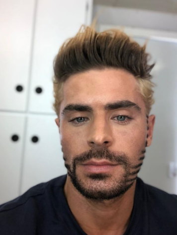<p>Ah, the picture that divided nations. Say whatever you want about Zac's windowpane-inspired beard design and tri-color hair—I think it deserves a spot in the Hot Boy Hall of Fame.</p>